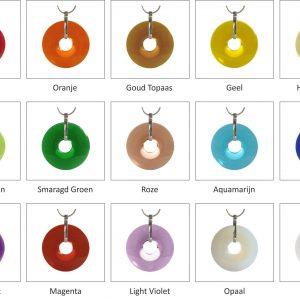 15 kleuren Xyluriz Set, een symbool voor oneindigheid